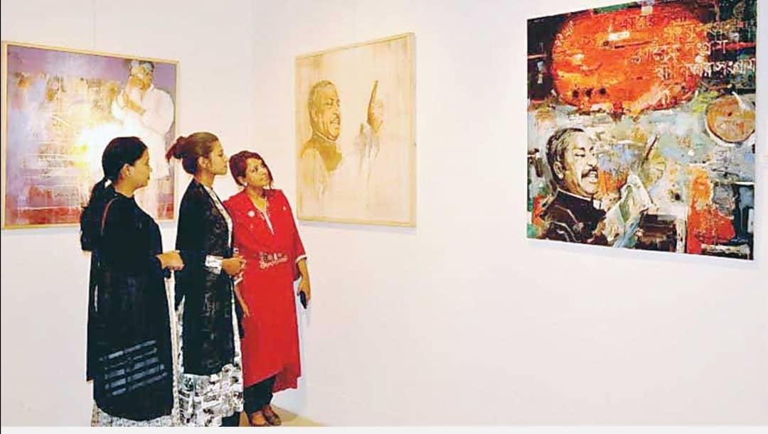 Art exhibition organized in Dhaka to pay tribute to Bangabandhu Sheikh Mujibur Rahman