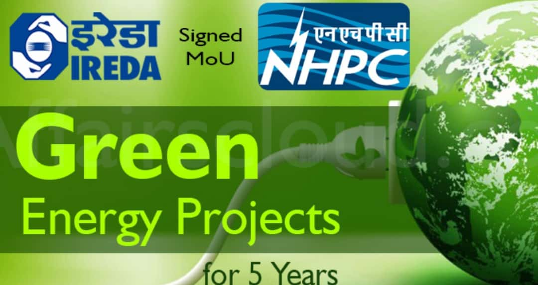 IREDA signs MoU with NHPC