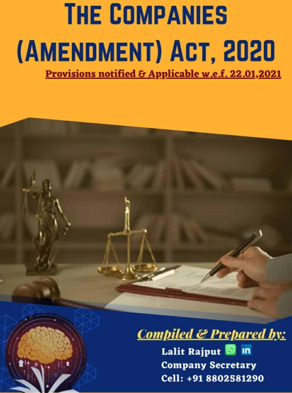 The Companies (Amendment) Act, 2020