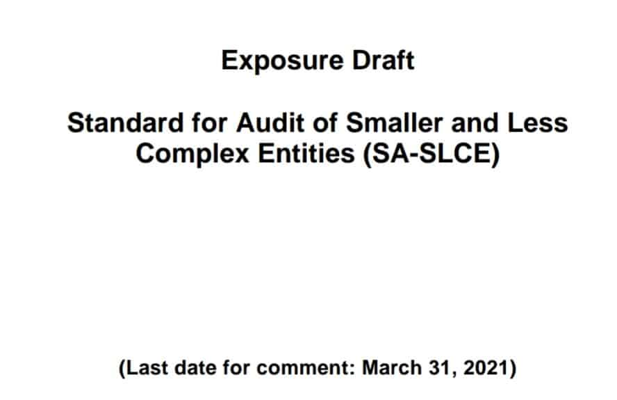 ICAI standard audit Smaller and Less Complex Entities (SA-SLCE)