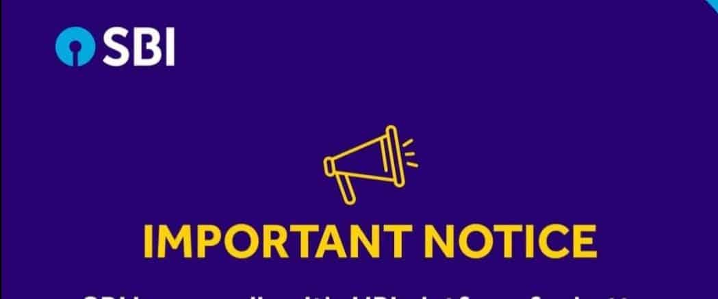 STATE BANK OF INDIA IMPORTANT ALERT TO CUSTOMERS